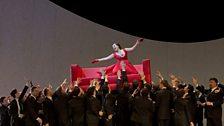 "A scene from Act I of Verdi's ""La Traviata"" with Diana Damrau as Violetta."