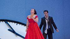 """Diana Damrau as Violetta and Saimir Pirgu as Alfredo in Verdi's """"La Traviata."""""""