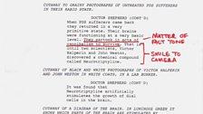 Understanding PDS - Doctor Shepherd's shooting script