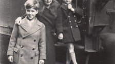 Lina and her sons on the Moscow train