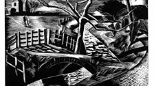 Paul Nash, The Dyke by the Road, 1922