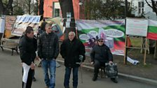 Low-wage protest camp in Sofia