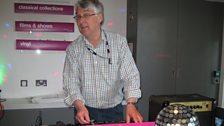 BBC Radio Norfolk boss David Clayton was on-hand to go back to his night club DJ roots!