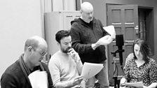 Mark Ravenhill directing in studio