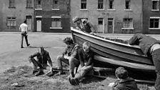Chris Killip, Boat repair, Skinningrove, North Yorkshire, 1983