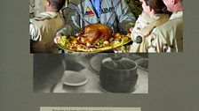 Adam Broomberg and Oliver Chanarin, Plate 26, George Bush serves a Thanksgiving turkey to US troops stationed in Baghdad in 2003