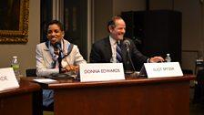 Donna Edwards & Eliot Spitzer