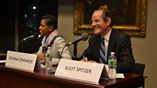 Donna Edwards and Eliot Spitzer