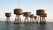 Redsand Towers Sea Fort which was used by Radio 390 between 1964 & 1967. Taken by Robin (Red Sands Project)