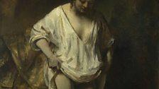 Rembrandt van Rijn, A Woman bathing in a Stream (Hendrickje Stoffels?), 1654