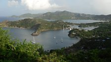 Magnificent view of English Harbour, Antigua.