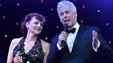 Billy Elliot stars Gillian Bevan and Deka Walmsley accept the Radio 2 Audience Award