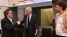 Sir Antonio Pappano, Tony Hall and Jonas Kaufmann
