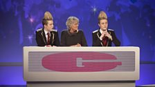 Germaine Greer with Jedward