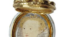 Pendant made of gold, rubies and a diamond, probably worn as an earring, with a miniature of Elizabeth I, c.1585-1600