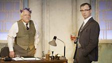John Simm as Gibbs & Simon Russell Beale as Roote