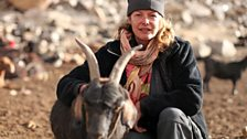 Kate Humble in the Wakhan Valley.