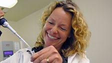Kate Humble helps to make sheep!