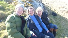 The end of the journey with producer Carol, Helen and Cathy