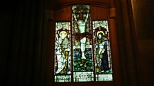 Stained glass window in Govan Old Parish Church