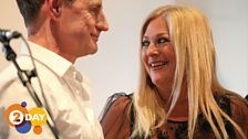 Richard Allinson and Vanessa Feltz during rehearsals for the Radio 2 Presenter Choir