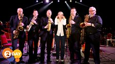 Clare Teal with the BBC Big Band Sax Section