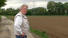 Historian Josef Becker at E-Easy crash site
