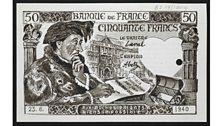 Banque de France (mock-up of 50 Francs notes)