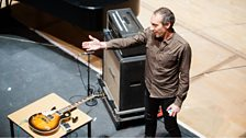 Guitarist Oren Ambarchi after performing Criss Cross by Alvin Lucier at the Tectonics Festival in Glasgow