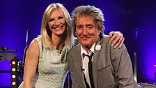Jo Whiley and Rod Stewart
