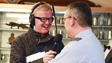 Interviewing Wing Commander Richard Turner - station commander of RAF Scampton.