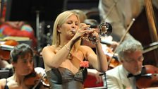 Alison Balsom playing at the Last Night of the 2009 BBC Proms