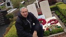 Rod Whiting at Guy Gibson's grave