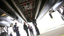 Underneath the bomb doors