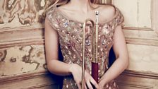 Alison Balsom with a baroque trumpet