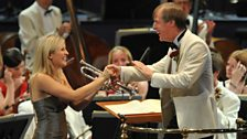 Alison Balsom and David Roberton at the Last Night of the 2009 Proms