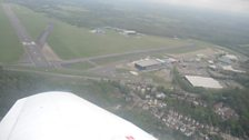 The view from the light aircraft