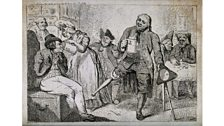"""Programme 7 """"Wooden Legs and Wheelchairs"""" - An etching by Isaac Cruikshank, c. 1791"""