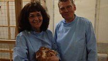 Professor Helen Sang and Tom Heap