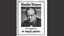 Radio Times for the state funeral of Winston Churchill