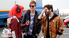 Matt Edmondson interviews the Foals at Radio 1's Big Weekend