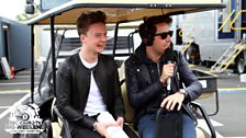 Grimmy backstage with Connor Maynard