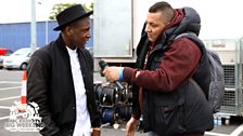Semtex backstage with Labrinth