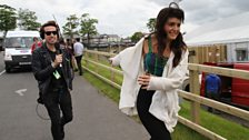 Grimmy chases Jessie Ware during 'Where's Jessie Ware?'