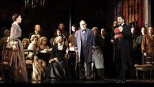 Sondra Radvanovsky as Lina, Roberto Frontali as Stankar & José Cura as Stiffelio (with members of the Chorus)