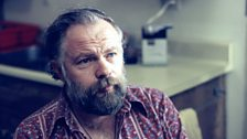 Writer Philip K Dick at the BBC in 1973