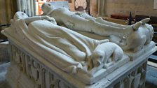 The Medieval tomb, in Chichester Cathedral of Richard FitzAlan, 10th Earl of Arundel and his 2nd wife Eleanor of Lancaster