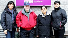 The Cheechoo Family's first visit to Scotland