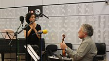 Elaine Mitchener and Irvine Arditti in the Late Junction Studio