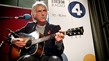 Paul Weller performing a session for BBC Radio 4's Mastertapes